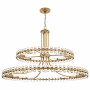 CLO-8890-AG Crystorama Clover 24 Light Aged Brass Two-tier Chandelier