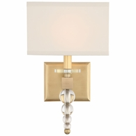 CLO-8892-AG Crystorama Clover 1 Light Aged Brass Wall Mount