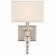 CLO-8892-BN Crystorama Clover 1 Light Brushed Nickel Wall Mount
