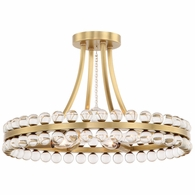 CLO-8894-AG Crystorama Clover 4 Light Aged Brass Ceiling Mount