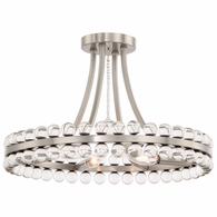 CLO-8894-BN Crystorama Clover 4 Light Brushed Nickel Ceiling Mount