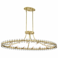 CLO-8897-AG Crystorama Clover 12 Light Aged Brass Chandelier