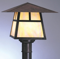 """CP-15 Arroyo Craftsman 15"""" Carmel Post Mount With Bungalow Overlay"""