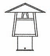 """CP-8 Arroyo Craftsman 8"""" Carmel Post Mount With Bungalow Overlay"""
