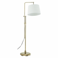 CR700-AB House of Troy Crown Point Antique Brass Floor Bridge Lamp