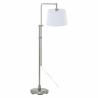 CR700-SN House of Troy Crown Point Satin Nickel Floor Bridge Lamp