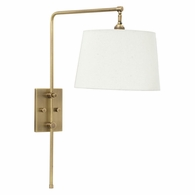 CR725-AB House of Troy Crown Point Antique Brass Wall Bridge Lamp