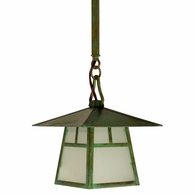 "CSH-8 Arroyo Craftsman 8"" Carmel Stem Hung Pendant With Bungalow Overlay"
