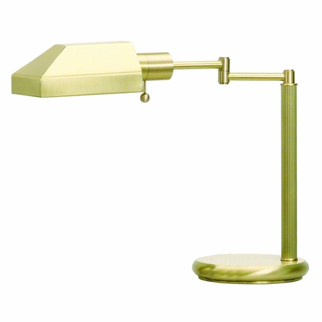 D435-51-J House of Troy Swing Arm Desk Lamp Satin Brass (DISCONTINUED ITEM!)