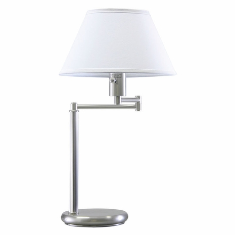 D436-52 House of Troy Home/Office Swing Arm Desk Lamp Satin Nickel
