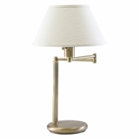 D436-71 House of Troy Home/Office Swing Arm Desk Lamp Antique Brass