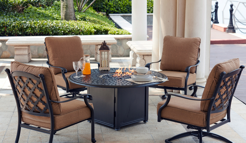 Darlee Propane and Wood Fire Pit Tables