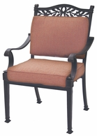 DL1091-1 Darlee Classic Charleston Dining Chair in Antique Bronze