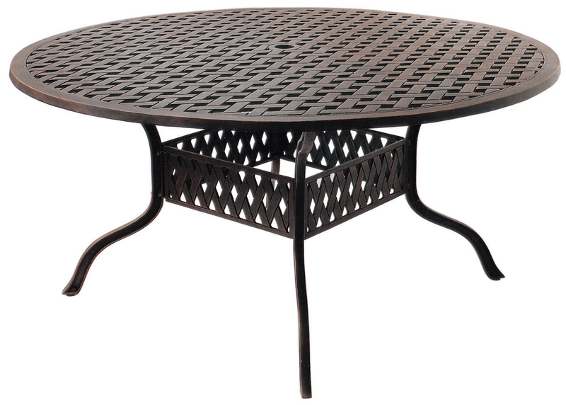 Dl30 D Darlee Series 30 Tables 60, 60 Round Outdoor Dining Table