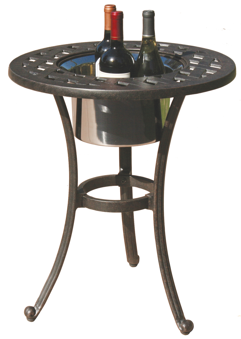Dl30 Rq Darlee 21 Round End Patio Table Ice In Cast Aluminum With An Antique Bronze Finish