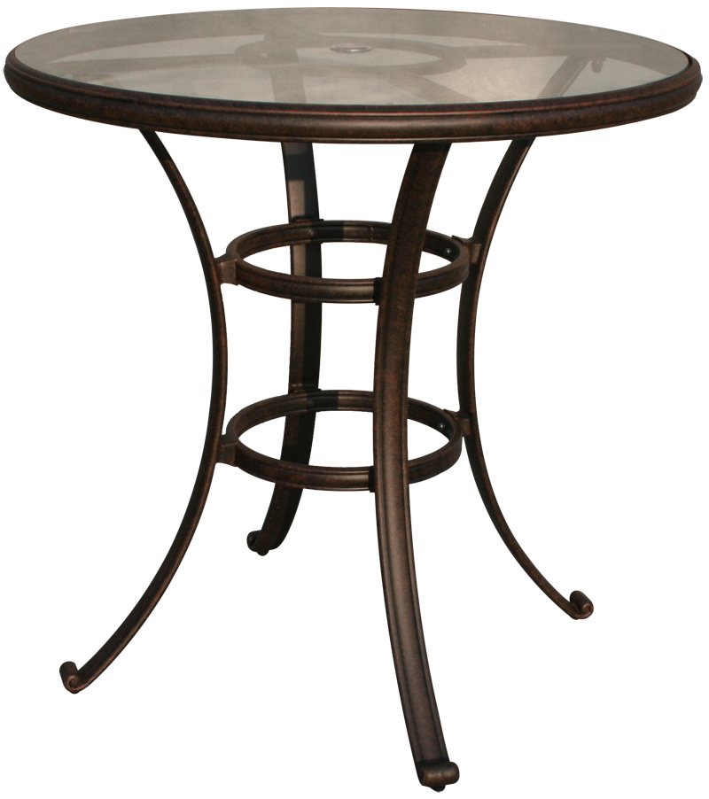 Dl50 F Darlee 42 Round Glass Top Bar, 42 Patio Table