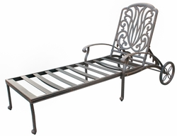 DL707-33 Darlee Classic Elisabeth Chaise Lounge (extra long) in Antique Bronze