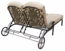 DL707-38 Darlee Classic Elisabeth Double Chaise Lounge (extra long) in Antique Bronze