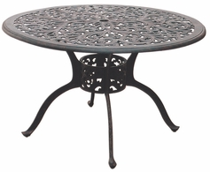 "DL80-C Darlee 48"" Round Dining Patio Table in Cast-Aluminum with an Antique Bronze Finish"
