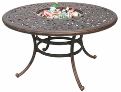 "DL80-DQ Darlee 52"" Round Dining Patio Table / Ice in Cast-Aluminum with an Antique Bronze Finish"