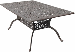DL80-E Darlee 42 x 72 inch Rectangular Dining Table in Cast-Aluminum with an Antique Bronze Finish