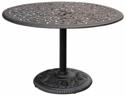 "DL80-G Darlee 42"" Round Pedestal Dining Table in Cast-Aluminum Top with an Antique Bronze Finish"