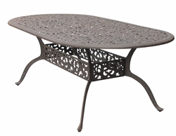 DL80-L Darlee 42 x 84 inch Oval Dining Patio Table in Cast-Aluminum with an Antique Bronze Finish