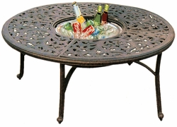 "DL80-Q Darlee 52"" Round Tea Patio Table / Ice in Cast-Aluminum with an Antique Bronze Finish"