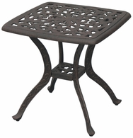 "DL80-S Darlee 21"" Square End Patio Table in Cast-Aluminum with an Antique Bronze Finish"