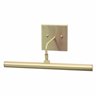 "DSLEDZ14-51 House of Troy Direct Wire Slim-Line LED 14"" Satin Brass Picture Light"
