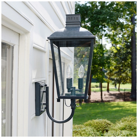 DUM-9802-GE Crystorama Dumont Outdoor 3 Light Graphite Wall Mount