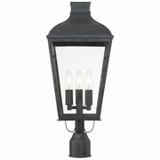 DUM-9807-GE Crystorama Dumont Outdoor 3 Light Graphite Post Mount