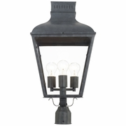 DUM-9808-GE Crystorama Dumont Outdoor 3 Light Graphite Post Mount