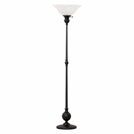 """E900-OB House of Troy Essex 69"""" torchiere floor lamp in oil rubbed bronze"""