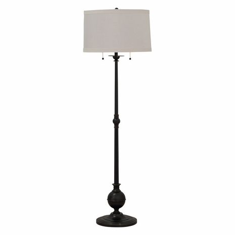 """E901-OB House of Troy Essex 57"""" twin pull floor lamp in oil rubbed bronze"""