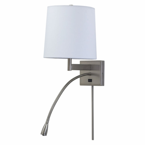 ECO425-SN House of Troy Eco Wall Lamp in Satin Nickel