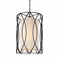 F1284DB Troy Hand-Worked Iron Interior Sausalito 4Lt Pendant Medium with Deep Bronze Finish