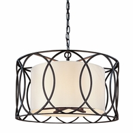 F1285DB Troy Hand-Worked Iron Interior Sausalito 5Lt Pendant Dining with Deep Bronze Finish