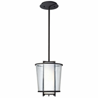 F1357FBZ Troy Hand-Worked Iron Interior/Exterior Bennington 1Lt Pendant with Forged Bronze Finish