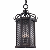F2378OI Troy Hand-Worked Iron Exterior Los Olivos 4Lt Hanging Lantern Large with Old Iron Finish
