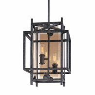 F2492FI Troy Hand-Worked Iron Interior Crosby 2Lt Pendant Small with French Iron Finish