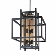 F2493FI Troy Hand-Worked Iron Interior Crosby 6Lt Pendant Medium with French Iron Finish