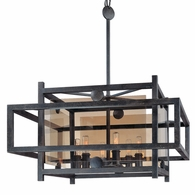 F2496FI Troy Hand-Worked Iron Interior Crosby 6Lt Pendant Dining with French Iron Finish