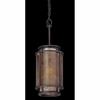 F3102 Troy Hand-Worked Iron Interior Copper Mountain 1Lt Pendant with Copper Mountain Bronze Finish