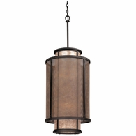F3103 Troy Hand-Worked Iron Interior Copper Mountain 8Lt Pendant Entry with Copper Mountain Bronze Finish