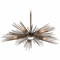 F4135 Troy Hand-Worked Iron Interior Blink 5Lt Pendant Medium with Light Cottage Bronze Finish