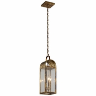 F5097HB Troy Solid Brass Exterior Bostonian 3Lt Hanger Lantern Medium with Historic Bronze Finish