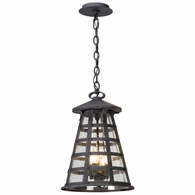 F5167 Troy Solid Aluminum Exterior Benjamin 4Lt Hanger Lantern Large with Vintage Iron Finish