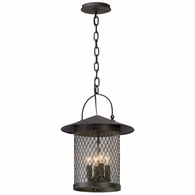 F5177 Troy Hand-Worked Iron Exterior Altamont 4Lt Hanger Lantern Large with French Iron Finish
