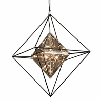 F5326 Troy Hand-Worked Iron Interior Epic 6Lt Pendant Medium with Forged Iron Finish